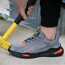 K10 męskie buty stalowe Toe bottes Anti-smashing anti-piercing niezniszczalne obuwie ochronne trampki obuwie robocze zapatillas hombre
