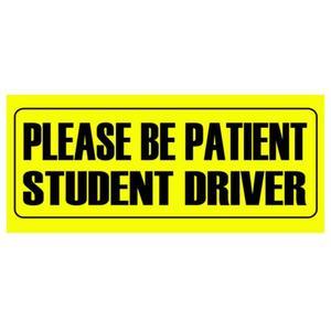 Image 1 - 車のステッカー警告ステッカーが患者学生ドライバデカール 10*23 センチメートル