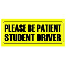 Auto Aufkleber Warnung Aufkleber WERDEN PATIENTEN STUDENT FAHRER AUFKLEBER 10*23cm
