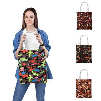 Multicolor High-Quality Women Handbags Canvas Tote bags Reusable grocery shopping bag Eco Foldable Shopping Bags hot new 7 colors tropical fish foldable eco reusable shopping bags 38cm x58cm