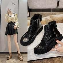 Женская шерстяная обувь 2020 модные зимние и теплые хлопковые