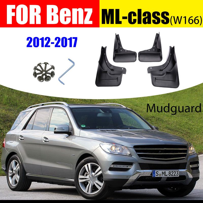 A-Premium Splash Guards Mud Flaps Mudflaps Replacement for Mercedes-Benz W164 ML320 2007-2009 ML350 2009-2011 ML500 Without Running Board 4-PC Set