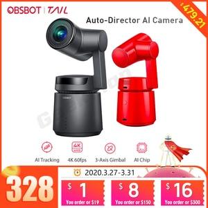 Image 1 - OBSBOT Cauda Auto Diretor AI Pista Câmera zoom automático captura até 4K/60fps vs insta360 um x evo 360 câmera