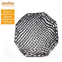 Godox 80cm 95cm 120cm Octagon siatka o strukturze plastra miodu dla Godox 80cm 95cm 120cm zdjęcie przenośny reflektor parasol Octagon Softbox