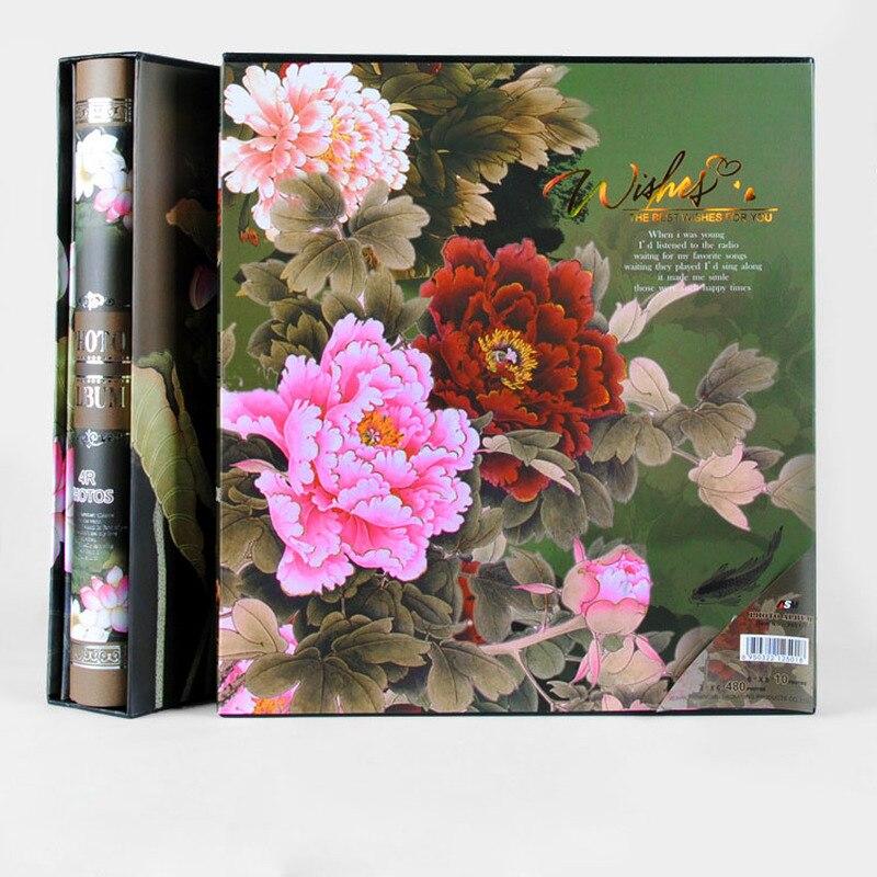 Image 3 - New Family Photo Album 6 Inch 480 Pockets 8 Inch Albums Retro  Insert Page Box 4R Photo Album Mixed Travel Family Memory RecordPhoto  Albums
