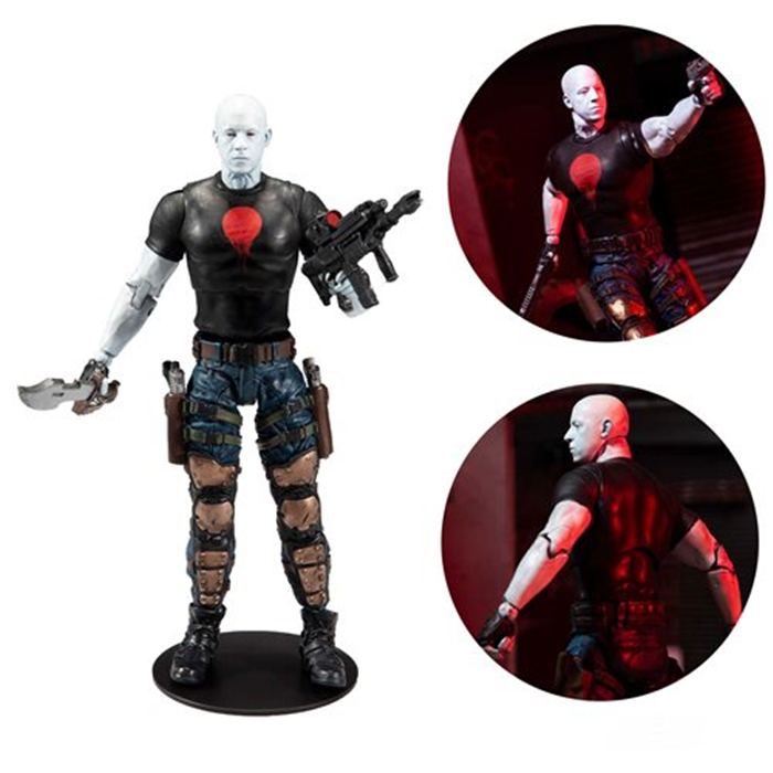 In Stock Mcfarlane BloodShot Vin Diesel Action Figure Model