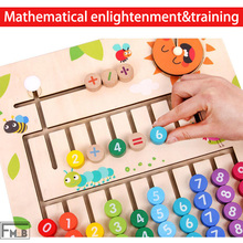 Wooden Pupils Addition And Subtraction Teaching Aids Children Mathematics Enlightenment Toys Cognitive Board