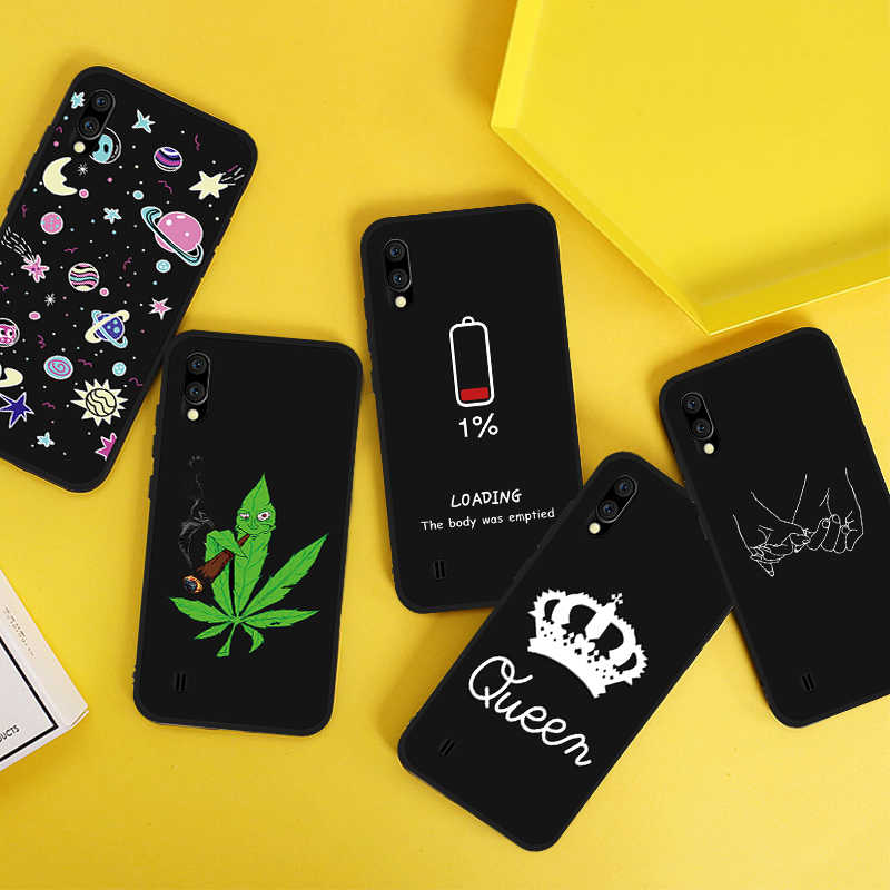 Kartun Fashion Indah Case untuk Samsung Galaxy Note 10 Plus A60 M40 A50 A70 A80 A90 S10 PLUS Lembut Slicone ponsel Penutup Belakang