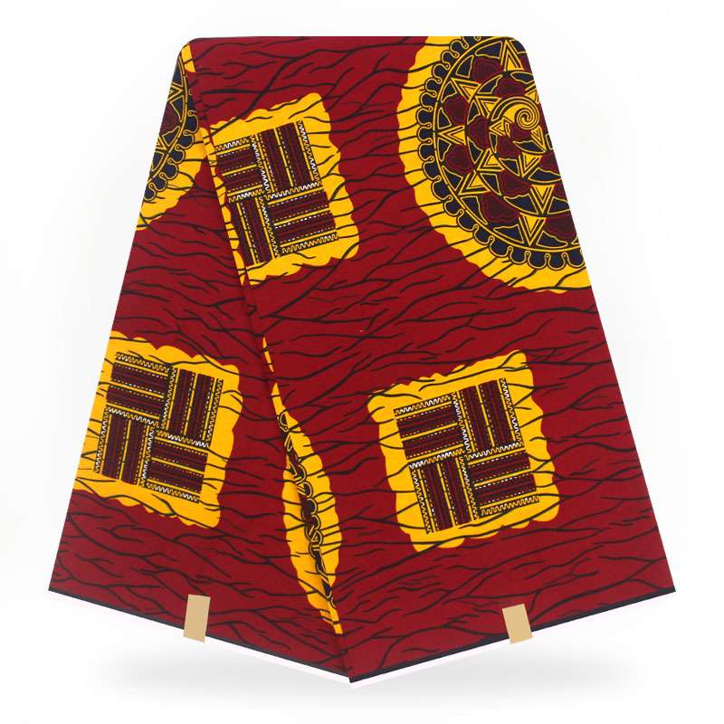 Ankara African Polyester Wax Prints Fabric Binta Real Wax High Quality 6yard African Fabric For Party Dress
