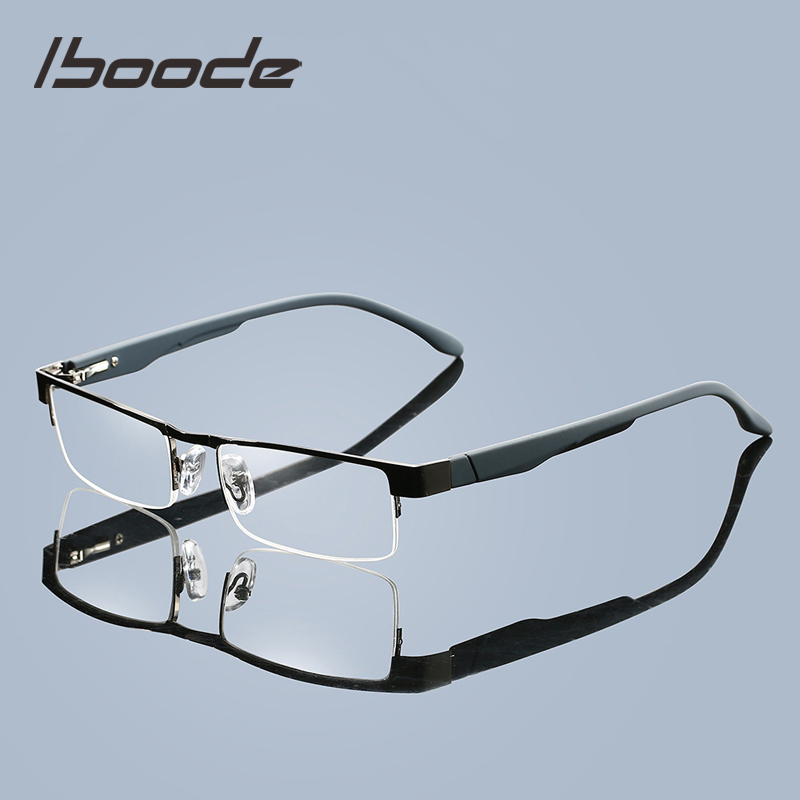 Iboode Alloy Men Reading Glasses Unisex Presopic Eyewear High Quality Business Eyeglasse Hyperopia Prescription Glasses +2.5 4.0