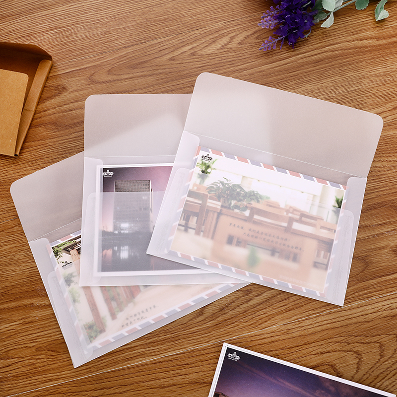 10 Pcs/Lot B6 Cute Transparent Sulfuric Acid Paper Envelope For Postcard Letter Gift School Office Stationary Supply Envelopes