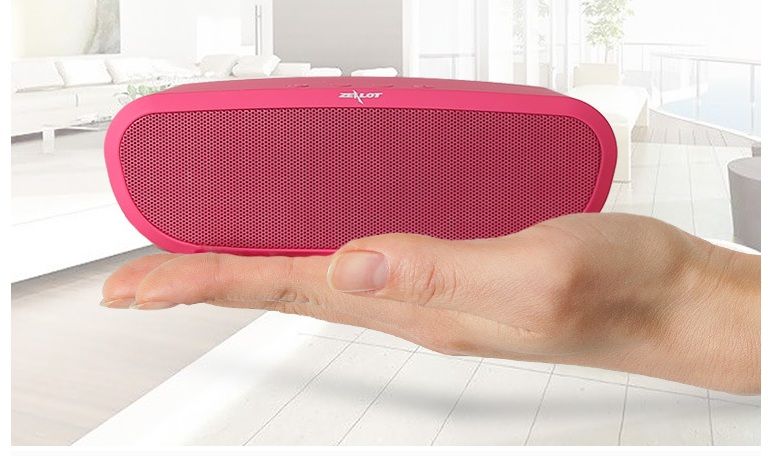 Zealot S9 HiFi Mini Bluetooth Speaker Portable Party Music Box Column Wireless Speaker Support TF Card,Aux, USB Flash Drive 1