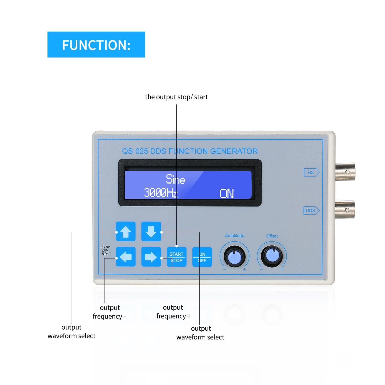 DC9V 1 Гц-65534 Гц DDS функция генератор сигналов синусоидальный квадратный треугольник пилообразный низкочастотный ЖК-дисплей USB кабель