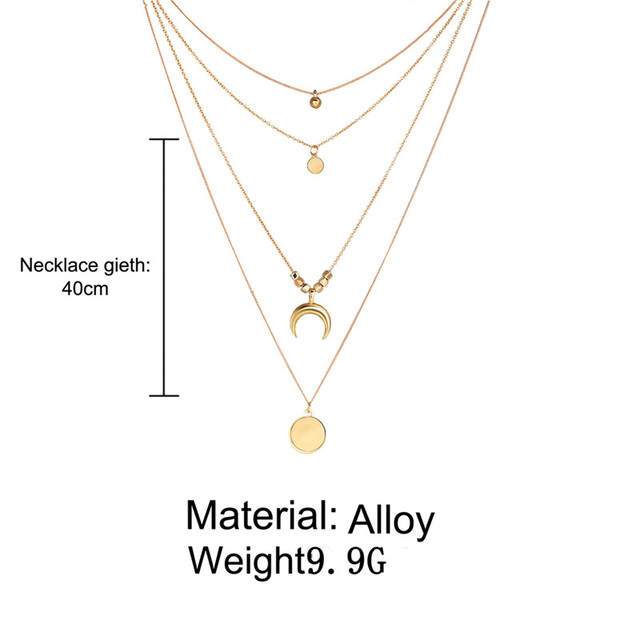 IF YOU Boho Coin Shell Rose Pendant Necklace For Girl Moon Crystal Choker Necklaces Women Beach 2020 Fashion Statement  Jewelry