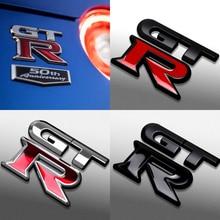 Car 3D Metal GTR Emblem Badge Car Sticker for Nissan Nismo Tiida Teana Skyline Juke X-trail