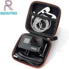 حقيبة صغيرة المحمولة للصدمات صندوق تخزين المدمجة مقاوم للماء ل Gopro بطل 9 8 7 6 5 4 3 SJCAM شاومي يي 4K عمل الكاميرا