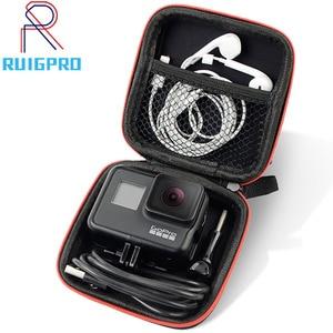 Image 1 - حقيبة صغيرة المحمولة للصدمات صندوق تخزين المدمجة مقاوم للماء ل Gopro بطل 9 8 7 6 5 4 3 SJCAM شاومي يي 4K عمل الكاميرا