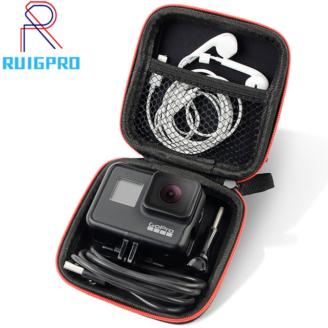Mini Bag Portable Shockproof Storage box Compact waterproof Case For Gopro Hero 9 8 7 6 5 4 3 SJCAM Xiaomi Yi 4K Action Camera