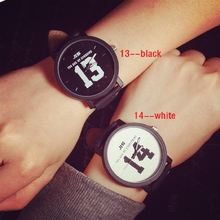 Парные часы романтичная Мода горячая Распродажа 1314 черно белые