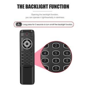 Image 5 - MT1 Drahtlose Fly Air Maus 2,4G Smart Stimme Fernbedienung Unterstützung Für Backlit Gyro IR Lernen mit MIC für x96 H96 MAX TV Box