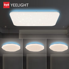 Yeelight colorido edição de luz lateral inteligente luz teto pode ser escurecido bluetooth controle remoto app voz trabalho mi casa siri homekit