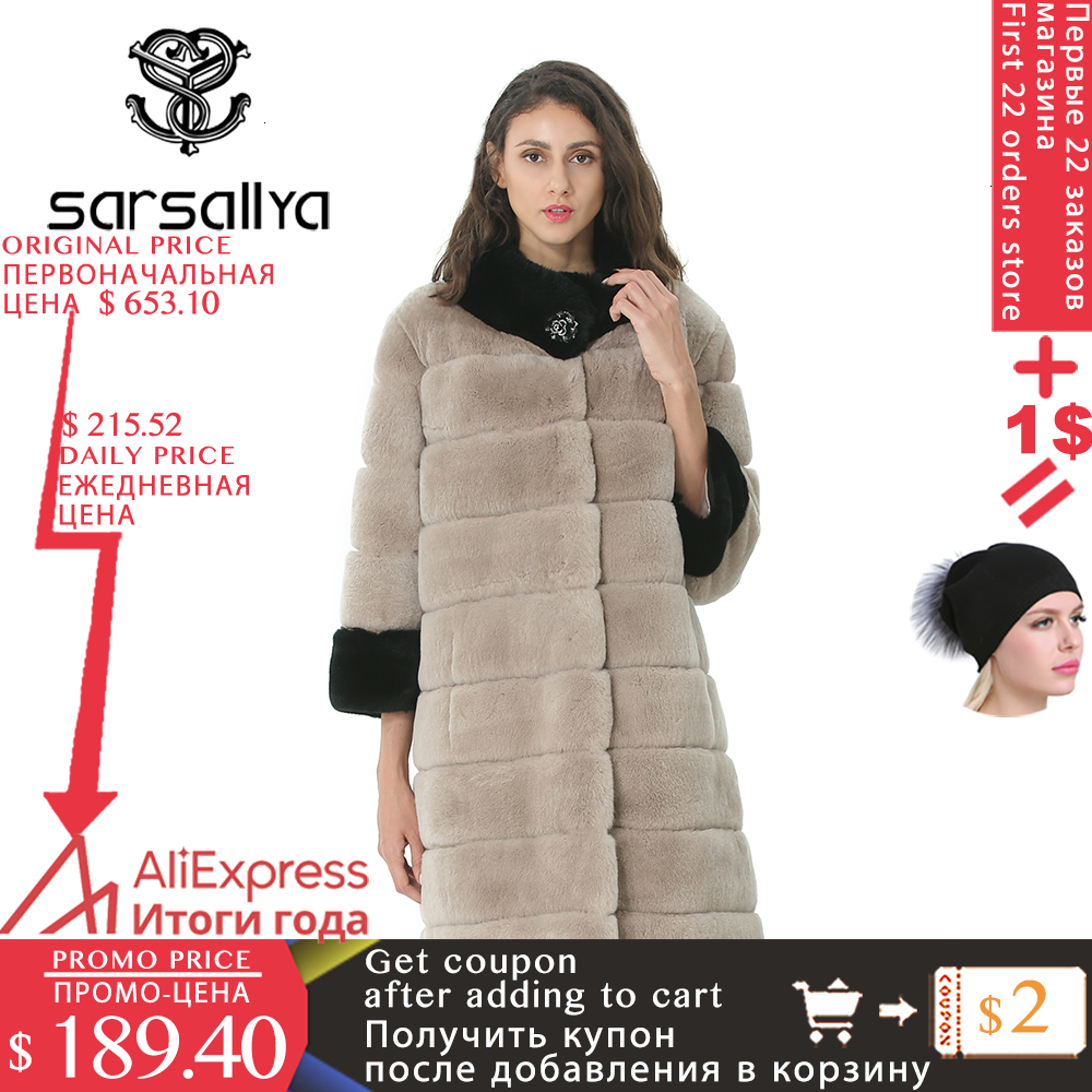 Real Rabbit Fur Coat Winter Women Coats Natural Fur Female Genuine Rex Rabbit Fur Jacket Pockets Warm Thick Clothes High Quality