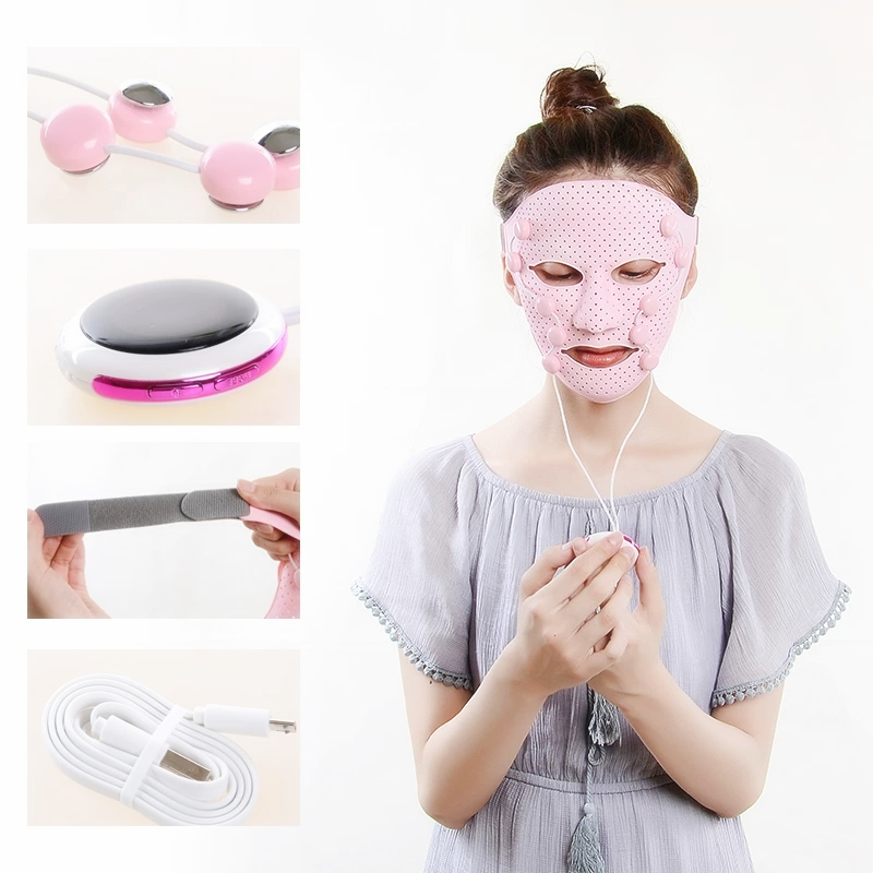 Image 5 - 3D Silicone Facial Mask Electric EMS Vibration Face Massager Skin Rejuvenation Face Care Treatment Beauty Anti age Beauty Spa-in Face Skin Care Tools from Beauty & Health