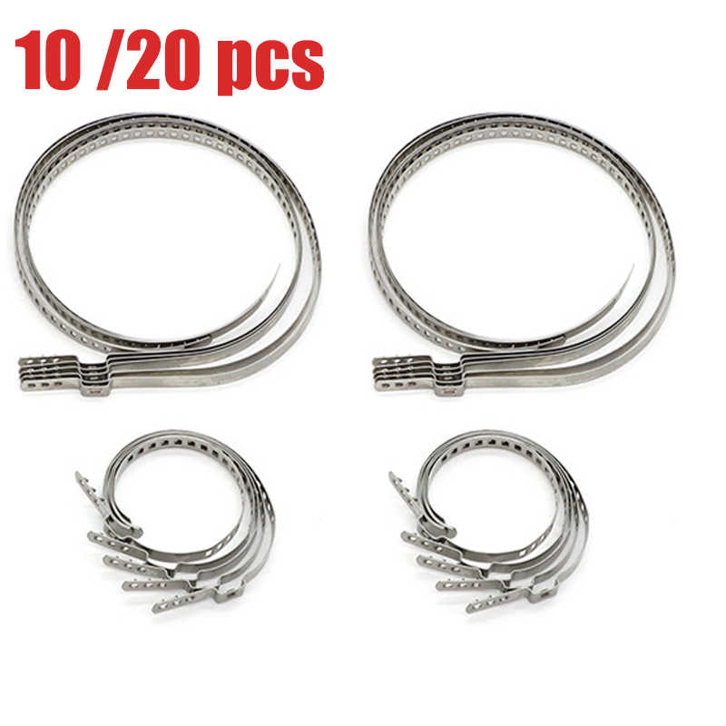 10 x UNIVERSAL STAINLESS STEEL CLAMP CLIPS FOR DRIVESHAFT CV JOINT BOOT KIT 245 x 9mm