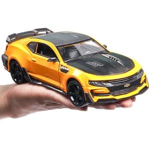 1/24 Шевроле Камаро спортивный автомобиль сплав литье под давлением модель автомобиля игрушка потяните назад мигающий для детей день рожден...