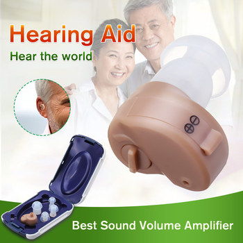 K-80 Portable Mini Hearing Aid Sound Amplifier In the Ear Tone Volume Adjustable Hearing Aids Ear Care For the elderly deaf image
