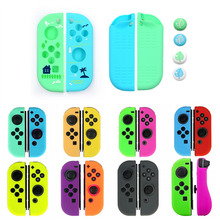 Nowy dla Joy con gumy silikonowej skórzane etui pokrywa dla Nintendo przełącznik Joycon kontroler rękaw ochronny przypadku
