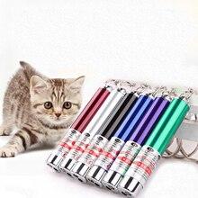 1 Uds mascota juguete con luz láser juguete para gatos punto rojo juguete con luz láser bolígrafo láser juguete interactivo con Gato