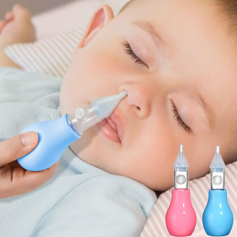 Infant silicone nasal aspirator pump type neonatal cold nasal mucus cleaner antibackflow baby nasal aspirator safe and non toxic
