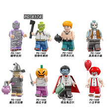 PG8174 Single Sale  Halloween Bandage Unili Series Festival Collection Building Blocks Bricks Figures For Children Toys
