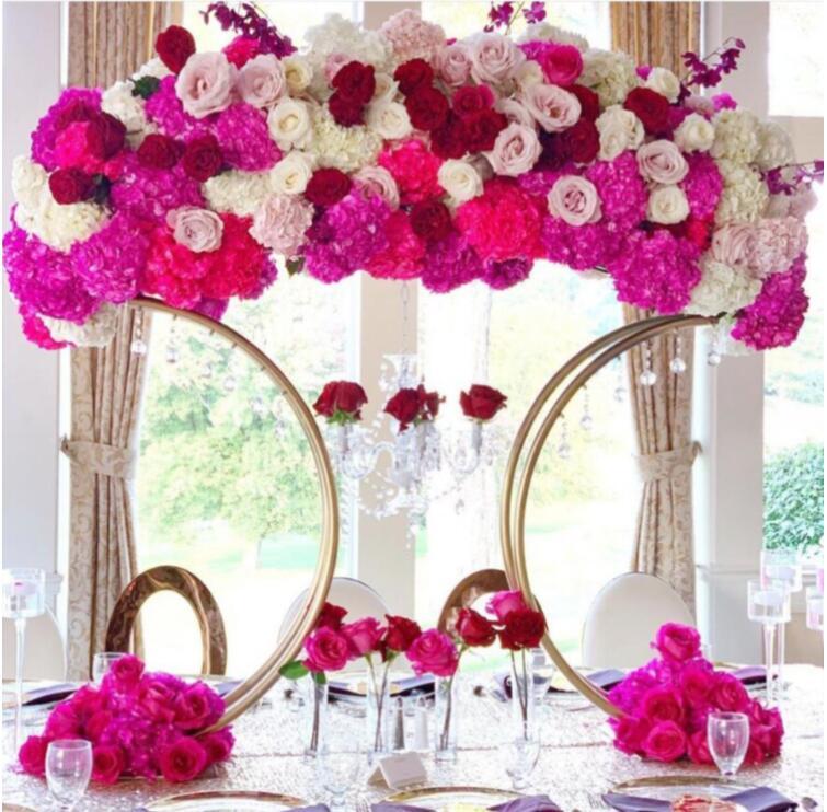 Mesa de Metal Centrais do Suporte da Flor do Metal do Casamento Central para Mesas do Casamento sem Flores Peças Peça