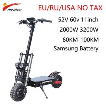 Patinete eléctrico 60V 3200w para Adulto, Scooter Eléctrico plegable de 11 pulgadas...