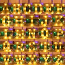 3d conduziu a lâmpada da noite 26 letra sinal do famoso alfabeto luz parede pendurado lâmpada decoração interior festa de casamento led night light droship