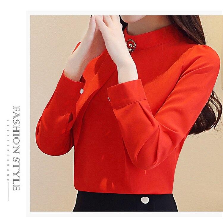 fashion woman blouses 2020 long sleeve chiffon blouse shirt long sleeve women shirts womens tops and blouses blusas femininas 7