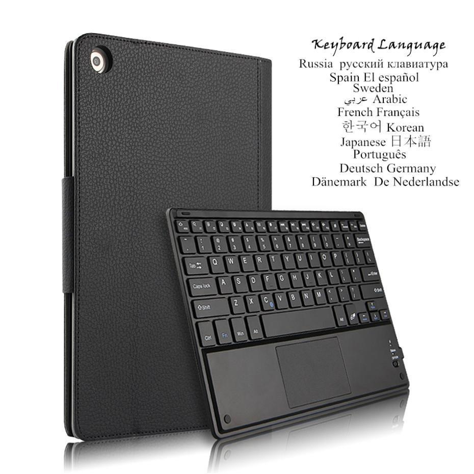 "Case For Huawei MediaPad M5 Lite 10 10.1\"" BAH2-W09/L09/W19 Detachable Tablet Bluetooth Keyboard Cover Multilingual Language"