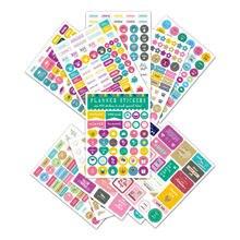12 blätter/Pack Kreative DIY Planer Aufkleber Set Für Notebook Farbige Dekorative Papier Scrapbooking Aufkleber Schule Büro Liefern