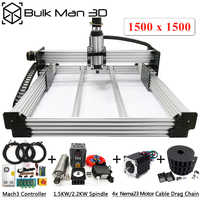 WorkBee CNC Router Machine Complete Kit 1.5*1.5M 4Axis Wood Working CNC Engraving Milling Machine DIY CNC Metal Carving Cutter