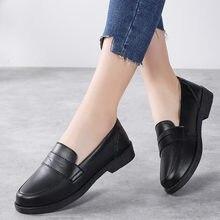 Женская обувь; Кожаная Слипоны на толстой плоской платформе