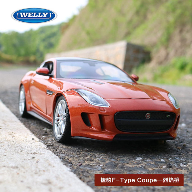 WELLY 1:24 Jaguar F-Type    Car Alloy Car Model Simulation Car Decoration Collection Gift Toy Die Casting Model Boy