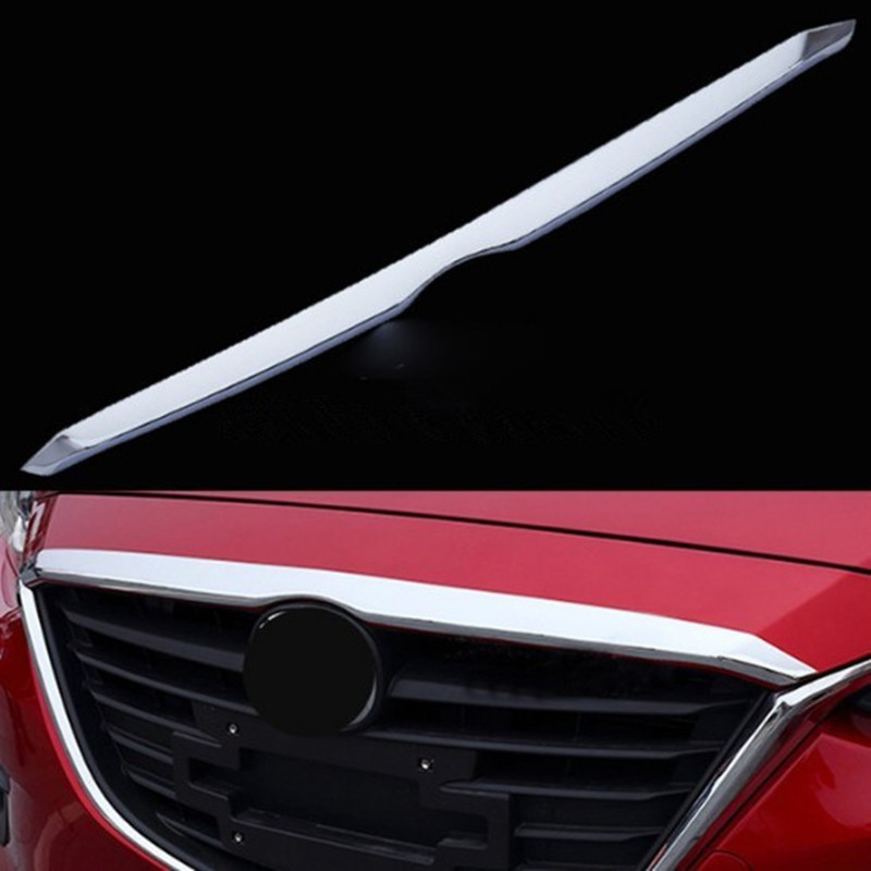 2014 - 2016 AXELA 3 chrome plated before the machine cover shield, trim molding grille trim flue gas grill bar fast safe ship image