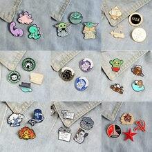 3~4pcs/set Cute Animal Baby Enamel Pins Koala T-Rex Brooch Lapel Pin Dog Cat Badge Sloth Magic Ball Jewelry Gift Amazing Price