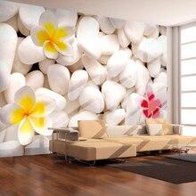 Пользовательские Современные Простые каменные цветы фото обои Гостиная Столовая домашний Декор 3D комната пейзаж фрески декор стен