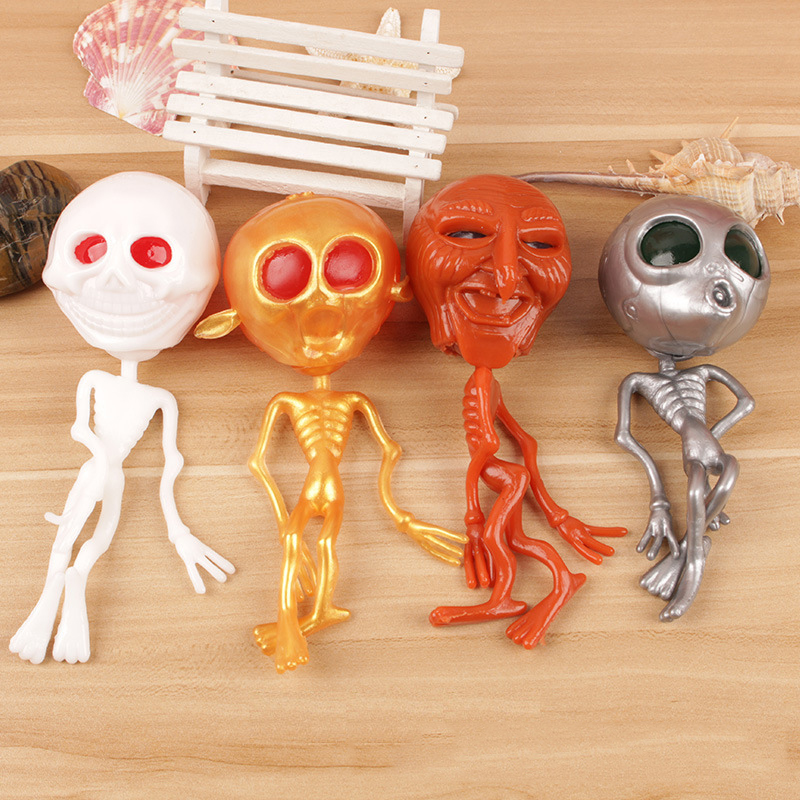 1pcs Kids Anti-stress Depression Squeezing Toys Ghost Head Aliens Funny Squishy Toys Children Party Tricky Vent Squishies Gift