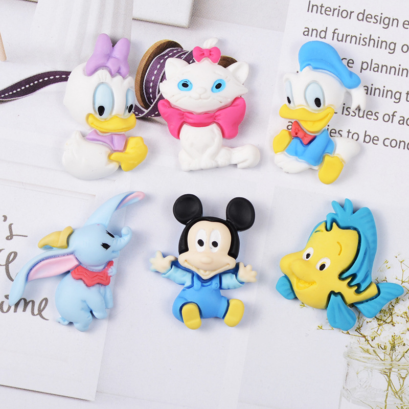 1Pcs <font><b>Slime</b></font> Charms Dumbo <font><b>Duck</b></font> Cat Mouse <font><b>Slime</b></font> Accessories Beads Making Supplies With Drawstring Pouch For DIY Crafts Scrapbooki image