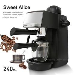 240ml SW-CRM2001 Halbautomatische Espresso Kaffee Maschine Dampf Typ Überhitzung Überspannung Schutz Pause Funktion Kaffee Maker
