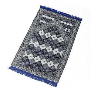 Image 1 - Wholesale Blue Red Praying Mat MashaAllah Salat Musallah Prayer Blanket 70x110cm Travel Islamic Muslim Prayer Mat/ Rug/ Carpet